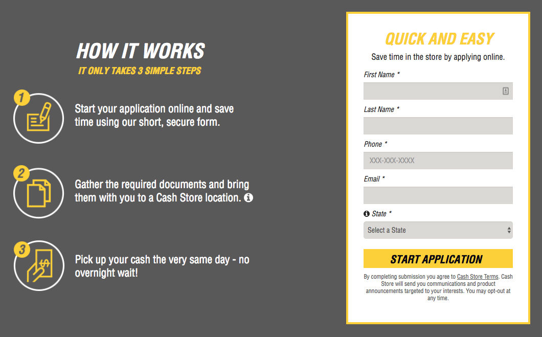 Cash Store Application
