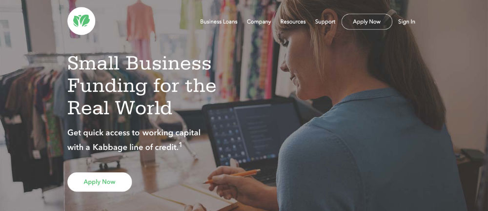 Kabbage Homepage