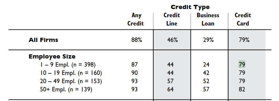 Small Businesses Depend on Credit Card